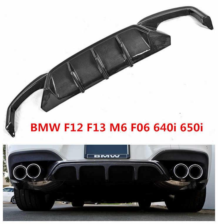 Alerón trasero de fibra de carbono para BMW 6 Series F12 F13 M6 F06 640i 650i 2011-2017 difusor de parachoques de coche accesorios para automóviles