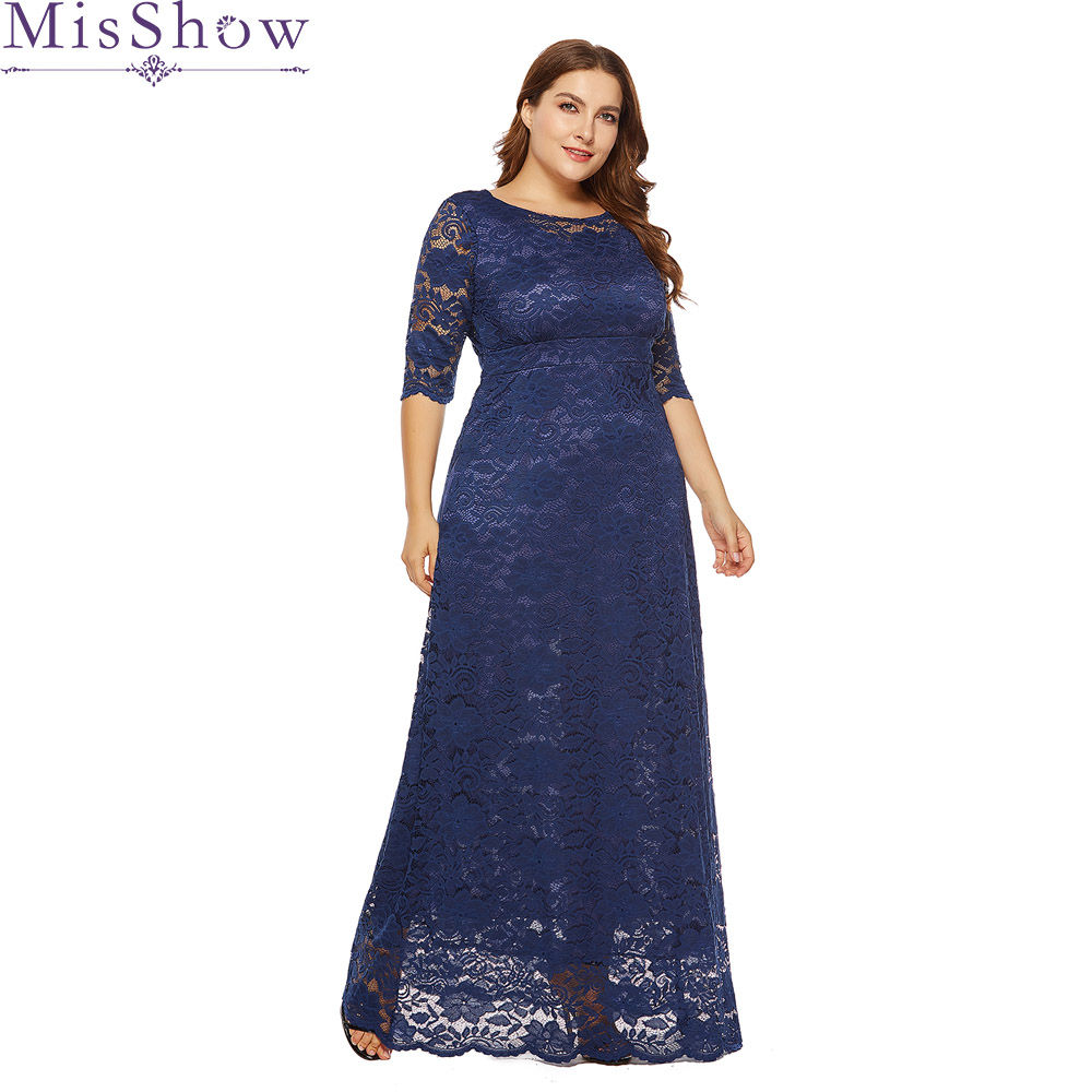 New Navy blue 2019 Mother Of The Bride Dresses Short Sleeve Lace Wedding Party Dress Mother