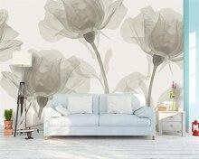 Купить с кэшбэком beibehang Photo wallpaper mural hand-painted fantasy flowers fashion 3d living room study TV background wall 3d wallpaper tapety