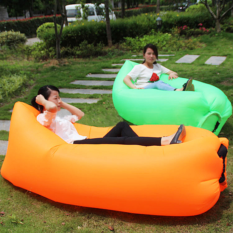 Inflatable Lazy Sleeping Sofa Bed Portable Travel Outdoor Folding Sofa Beach Chair One Seat Bag Furniture Free Shipping H135 high quality folding sofa bed living room furniture lounge chair lazy sofa relaxing window corner sofa folding floor chair