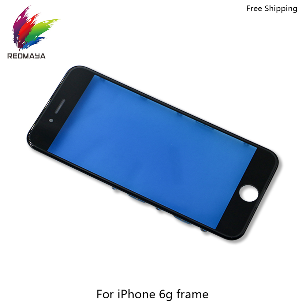 LCD Front For iPhone 6G 6 Plus Outer Replace Glass with Frame Bezel Touch Screen Glass Panels Digitizer Sensor Phone Parts
