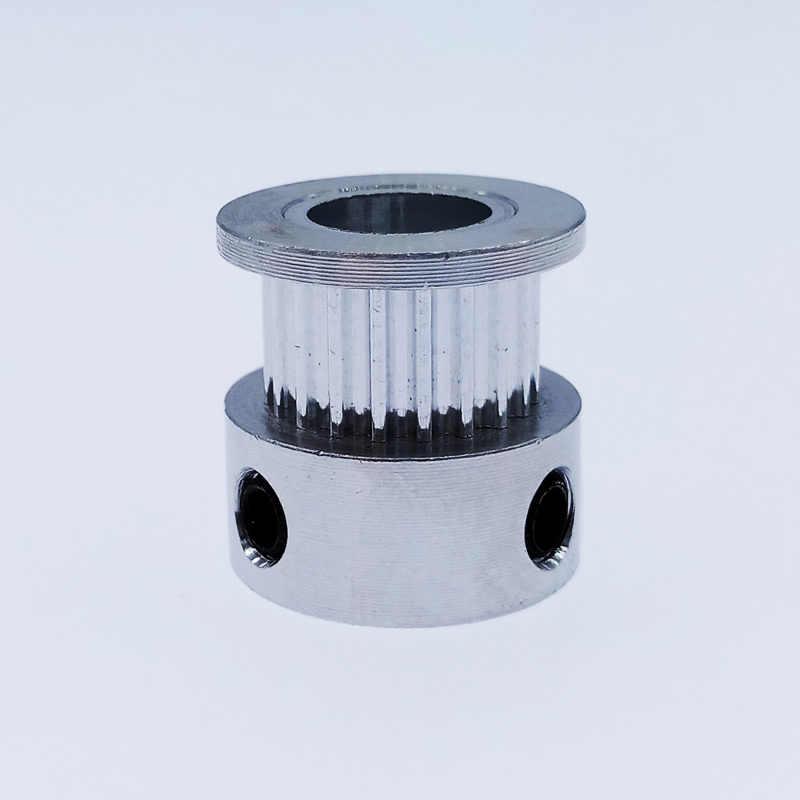2GT 20 polea de dientes con sincronización de aluminio 3D piezas de impresora GT2 20 diámetro del diente 5mm 6mm ancho 6mm 9mm parte sincrónica rueda engranaje