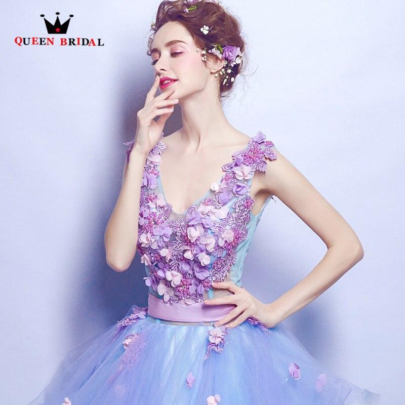 Reine Robe De soirée De mariée nouvelle mode 2018 Robe De bal Appliques perles moelleux longue luxe robes De soirée Robe De bal DR17 - 5