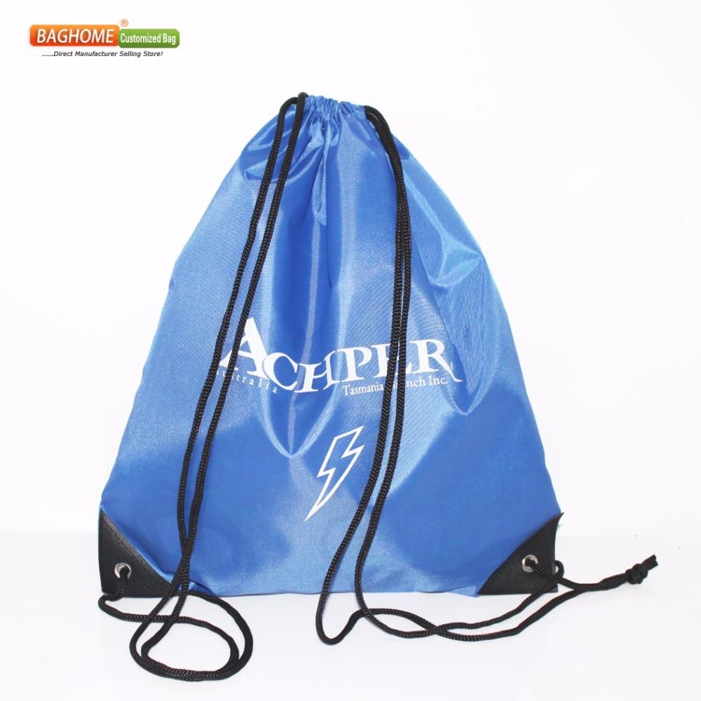 100pcs/Lot Drawstring Bag Customized Logo For School Kid's  38H*33W CM
