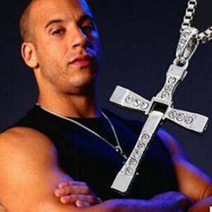Movie Jewelry Necklace Pendants Fast-And-The-Furious Fashion Men CROSS Toretto Classic