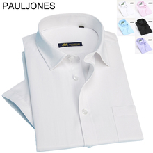 2015 New Men's dress shirts Short sleeve striped shirt for man spring summer business formal men big size