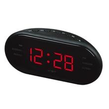 Radio Alarm Clock Digital AM FM Dual Frequency Electronic Table Desk Digital LED Clock EU Plug Luminous Snooze Wake Up Light fm micro smd radio diy kit frequency modulation electronic production training