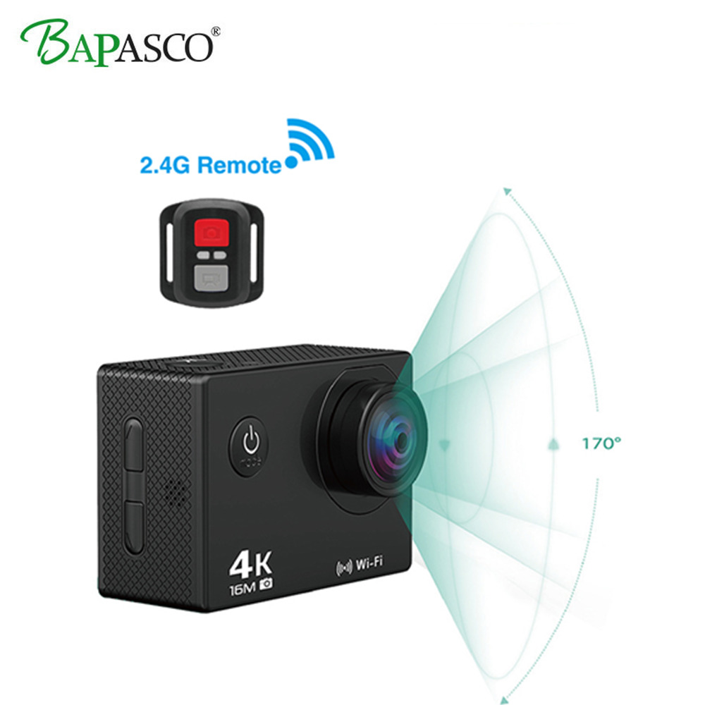 Image 4 - BAPASCO Ultra HD 4K WIFI gopro Hero 4 Style Allwinner V3 2.0 LCD 170 lens diving waterproof 30M DV helmet cam motion camera-in Sports & Action Video Camera from Consumer Electronics