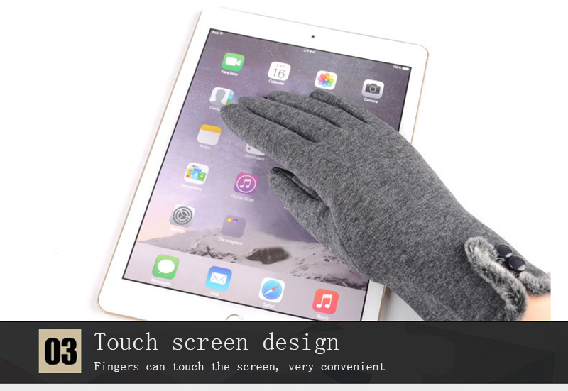 Comfortable and Warm Non Inverted Touch Screen Gloves for Women with Sensitive Touch Screen Function without Hand Exposing to Cold 28