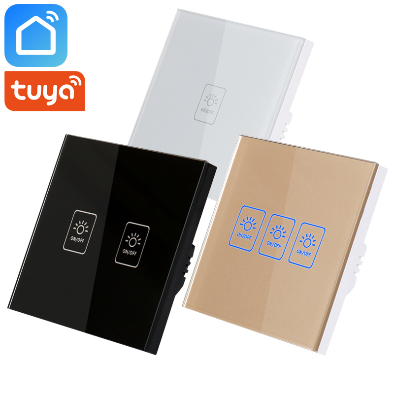 Tuya Smart Life <font><b>RF433</b></font> Wifi Smart Switch EU UK Wireless Remote Control Works With Alexa IFTTT Google Home Mini Smart Home <font><b>Modules</b></font> image