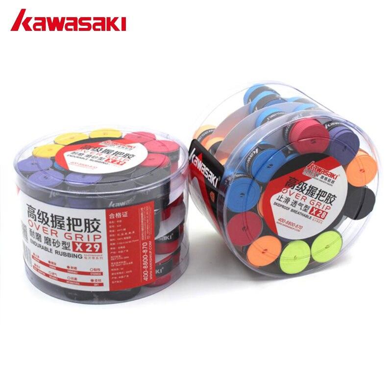 Kawasaki бренд 60 шт./лот Напульсники анти-slip дышащие Бадминтон над рукояткой Теннис овергрипы Клейкие ленты ракетка Интимные аксессуары x29