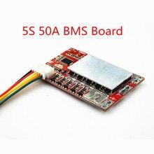 Tablero BMS 5S de 50A/tablero de protección de batería de litio 55A 3,7 V/tablero BMS de batería LiFePO4 de fosfato de hierro de 3,2 V con Balance