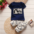 new 2016,baby boy clothes,summer,children clothing set,kids clothing,baby wear,sport suit,t-shirt + pants 2pcs set