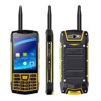 Robuste Talkie Walkie Extérieure Mobile Téléphone IP68 Étanche Android 6.0 MTK6580 NFC 3G WCDMA Tactile 3.5