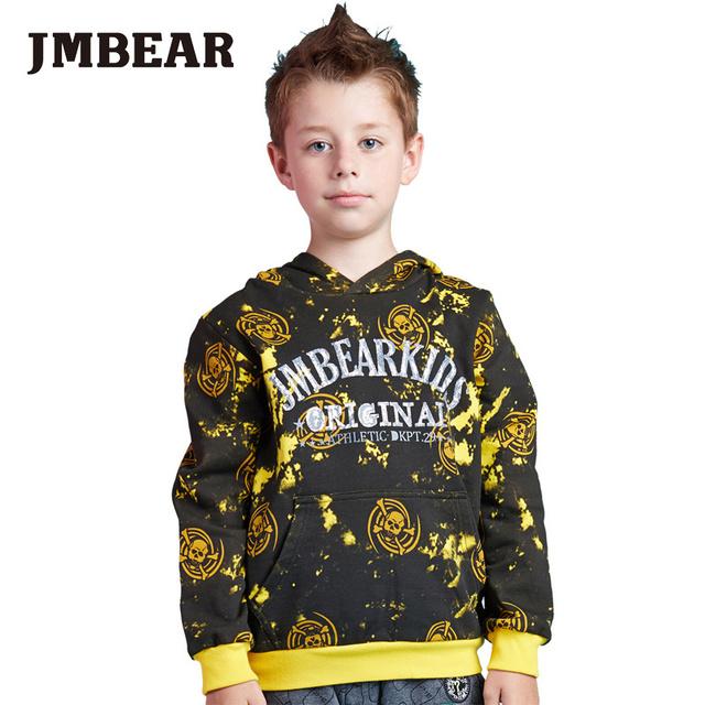 Jmbear meninos casaco jaqueta de moletom com capuz camisola do pulôver exteriores roupa dos miúdos crianças moda outono desgaste