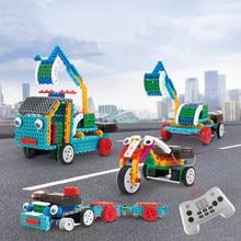 STEM DIY Tool Cart 4 in 1 Electronic Building Block Educatio
