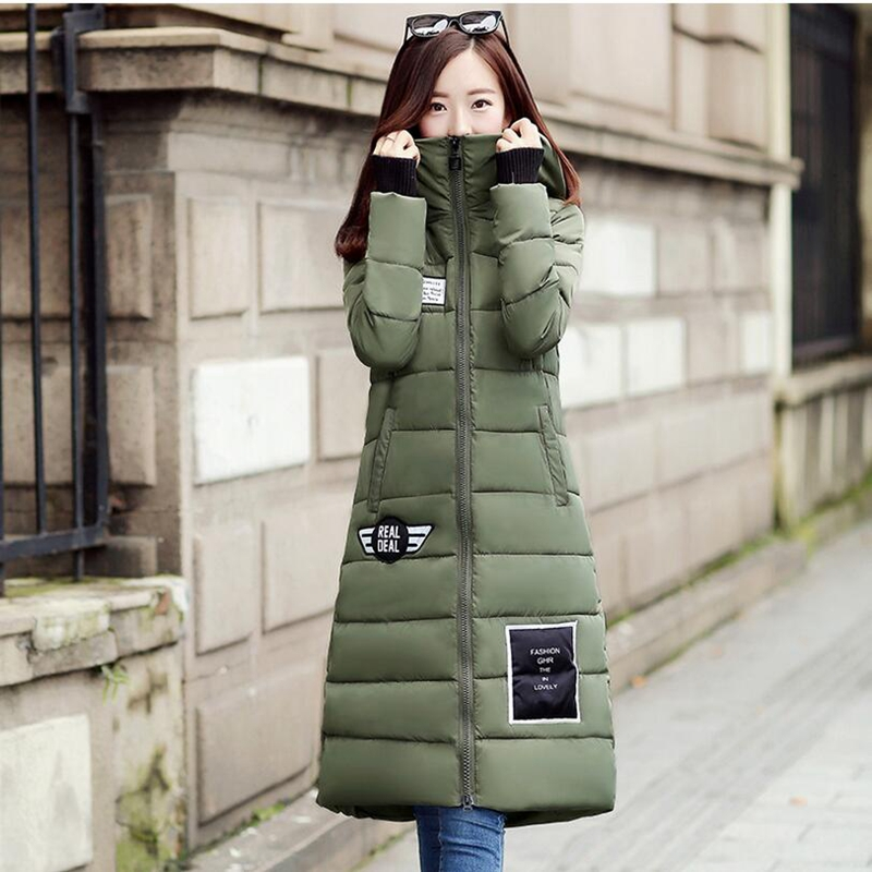 ФОТО Hot 2017 Winter Fashion Clothes Women Long Jacket Basic Coat Hooded Casual Outwear Cotton Padded Warm Parka Witch Magic Hat P952