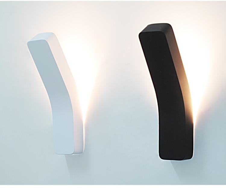 Μοντέρνο εξατομικευμένο κρεβάτι σιδερένιο κουτί τοίχο λαμπτήρα φως λαμπτήρα σπίτι διακόπτη 3W λαμπτήρας LED λευκό / μαύρο κρεατικός φωτισμός τοίχου AC 85-265V
