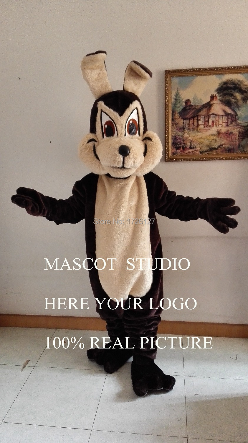 Dark brown wolf mascot coyote costume werewolf cartoon character anime cosplay mascotte theme fancy dress carnival costume