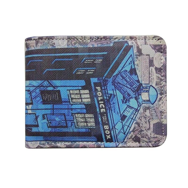 fe60a6649567f Comics DC Marvel Leder Brieftasche Die Doctor Who Tardis Doctor Who Karte  Polizei Box Dollar Preis Geldbörse Blau Geldbörsen carteras in Comics DC  Marvel ...