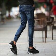 Моды для Мужчин Джинсы Новое Прибытие Дизайн Slim Fit Модные Джинсы Для Мужчин Хорошее Качество Синий 962 4