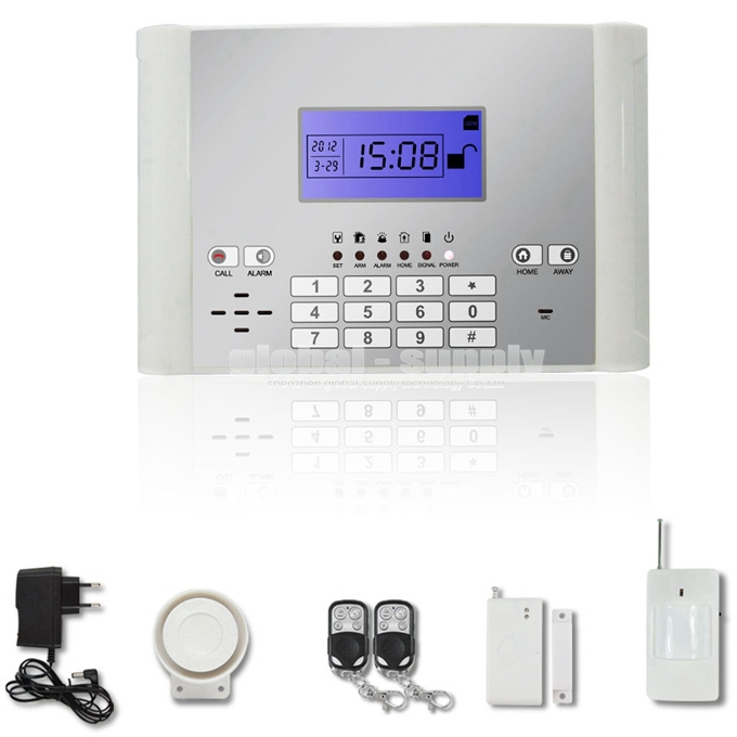 DIYSECUR Wireless / Wired Defense Zones GSM SMS Intruder Security Alarm System Auto-dial for House Office стоимость