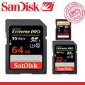 100% original sandisk 16 gb 32 gb 64 gb 128 gb extreme pro sdhc sdxc UHS-I C10 Tarjeta de Memoria SD de La Cámara de Alta Velocidad Clase 10 95 MB/S