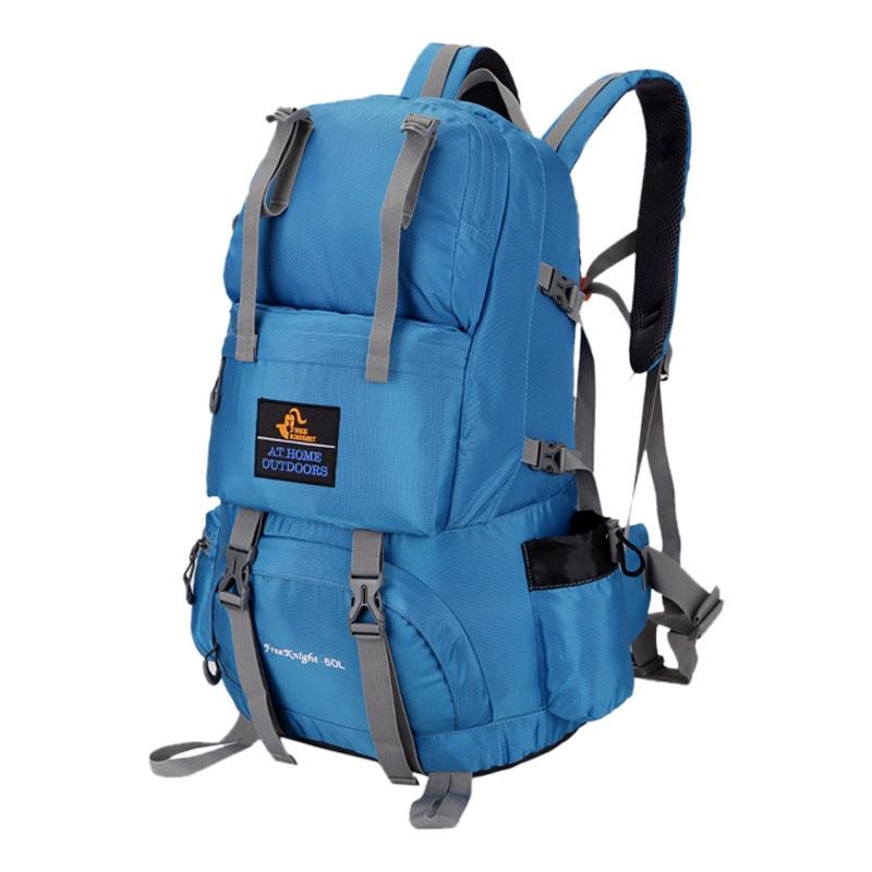 Qubabobo 50l unisex esporte ao ar livre mochilas à prova dnylon água náilon tático ultra capacidade escalada & caminhadas sacos de desporto