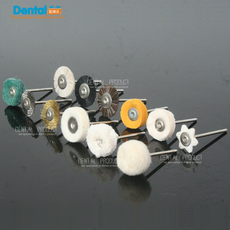 24pcs Dental Lab Brush Polishing Wheel Polishers for Rotary Tools 2.35mm 12pcs/set