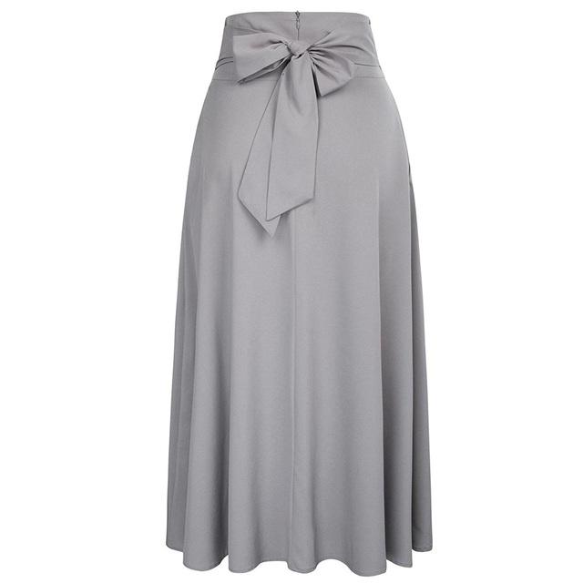 Women's A-Line Belted Skirt