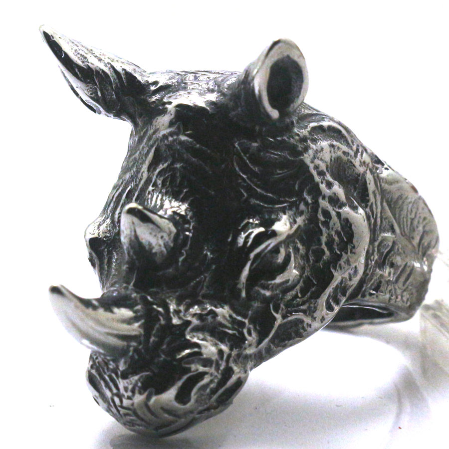 Topdudes.com - 316L Stainless Steel Rhinoceros Party Ring