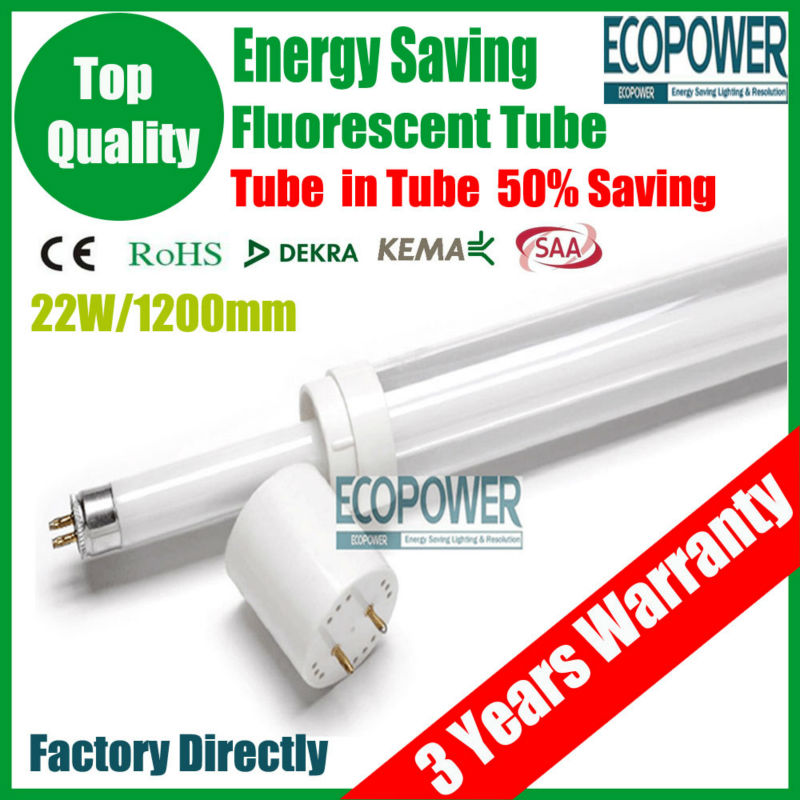 TOP Quality!Energy-Saving Lamps Fluorescent Lamp T5/T8 Tube in tube Lightbulb lighting Bulbs 600mm 12W+CE/ROHS+3 Years Warranty