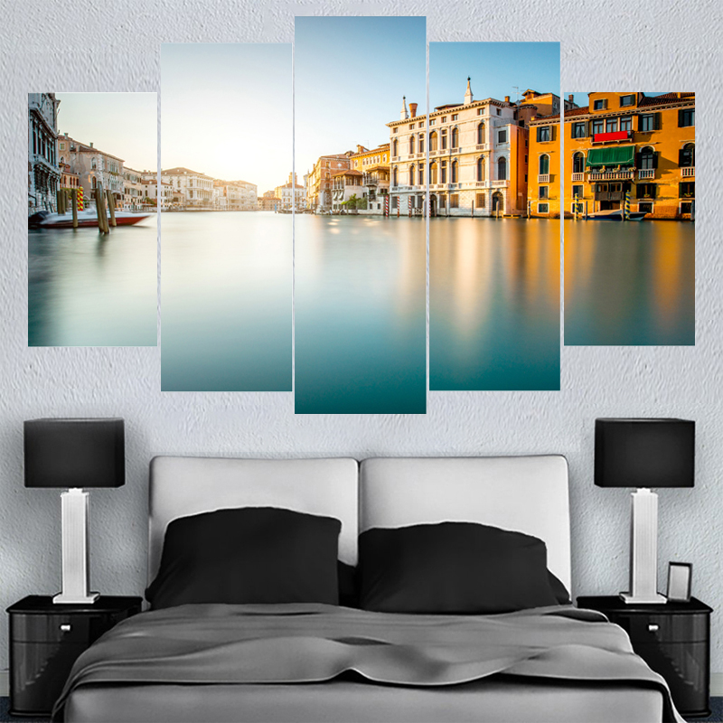 Home Decor Wall Art Beautiful City Venice Canvas Paintings HD Printed Framed Or Unframed Canvas Painting For Bed Living Room