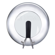 visible stainless steel wok cover stand up pot lid cookware visible lid diameter 30cm u0026 32cm