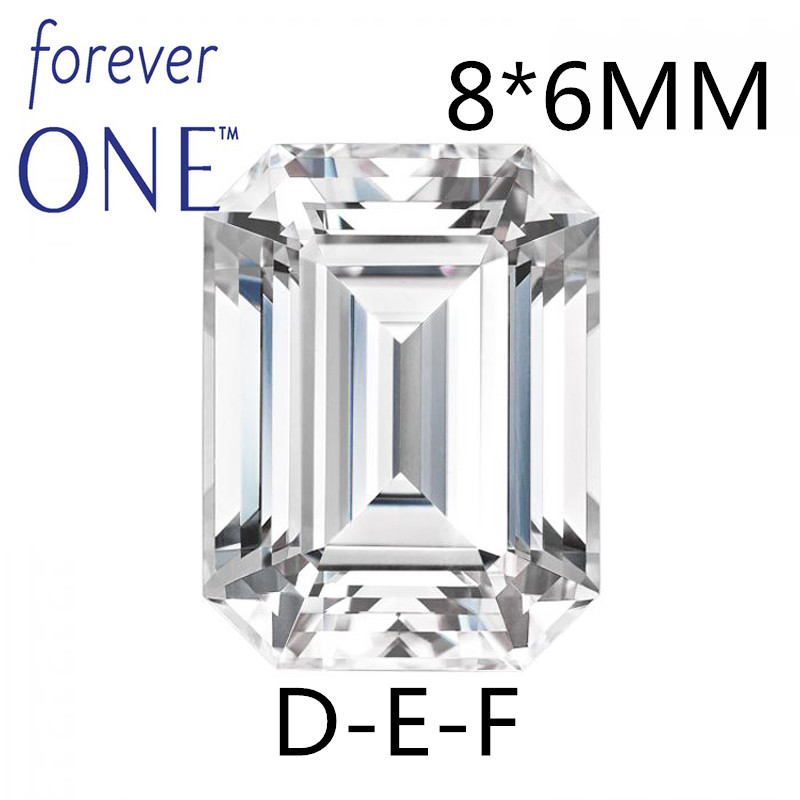 Certified 1.5CT Emerald Cut Charles Colvard Forever One Moissanite Loose Gem stone VS D E F Colorless Diamond Positive Testing цена
