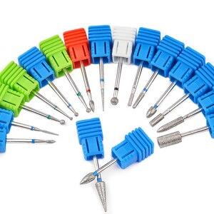 Image 5 - 1 sztuk wiertła z węglika wolframu Nail Art 17 rodzaje 3/32 frezowanie Manicure frez do Pedicure urządzenie elektryczne obrabiarki gratowania