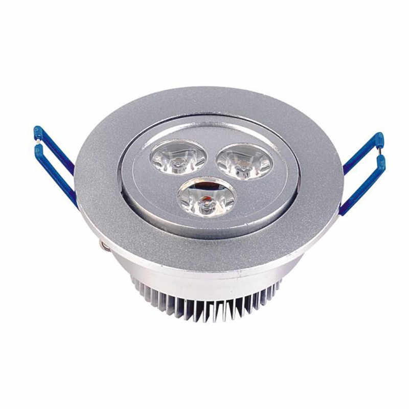 כסף לבן אולטרה בהיר LED Downlight 3 w 5 w 7 w 9 w 12 w 18 w 24 w דק עגול LED תקרת אור ספוט שקוע AC85 ~ 240 v למטה אור
