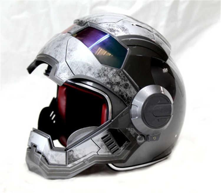 Подлинный личный мотоциклетный шлем для мужчин и женщин 610 Железный человек ретро BMX war version of ash
