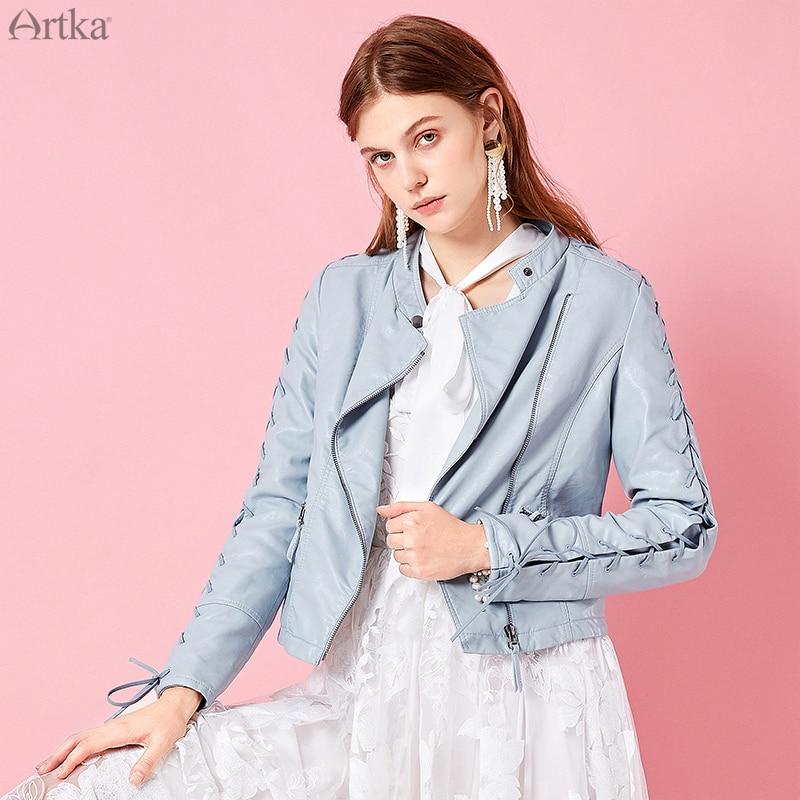 Kadın Giyim'ten Basic Ceketler'de ARTKA 2019 Bahar Yeni Kadın Kısa Ceket Tam Kollu Katı Renk Serin Rahat Bayan Kısa Ceket yüksek kaliteli giysiler WA10295C'da  Grup 1