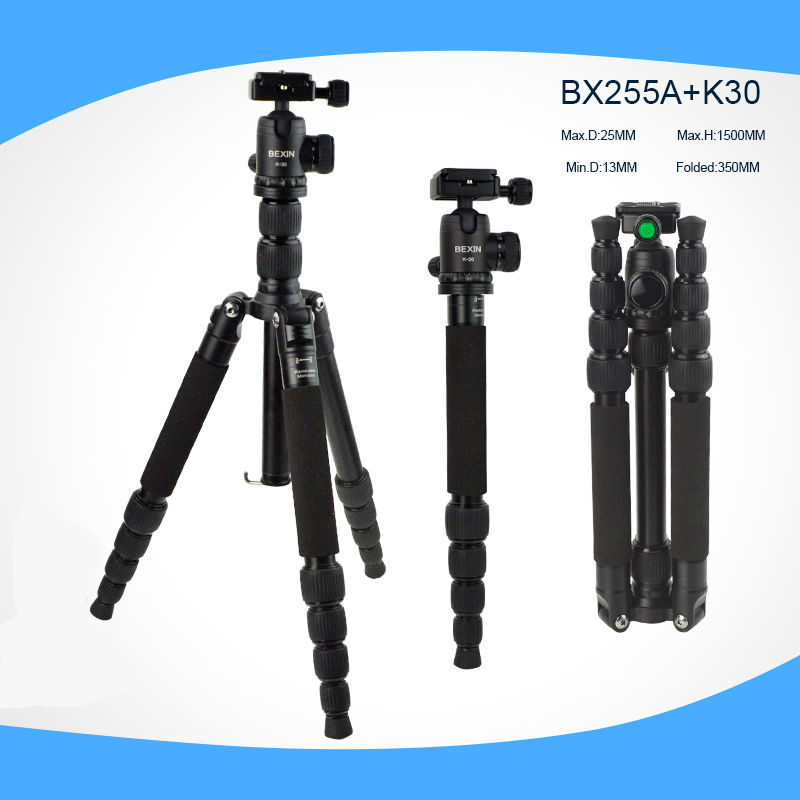 Professional Photographic Portable light tripod Monopod with Ball Head For DV DSLR Camera Stand with Travel Tripod Bag Pocket