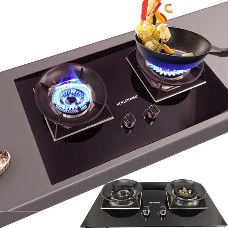Embedded Gas Stove 2 Pots Dual-range Natural Gas Liquefied Gas LPG Fire Ranges Bench-top Home Kitchen Cooktop Catering EquipmentEmbedded Gas Stove 2 Pots Dual-range Natural Gas Liquefied Gas LPG Fire Ranges Bench-top Home Kitchen Cooktop Catering Equipment