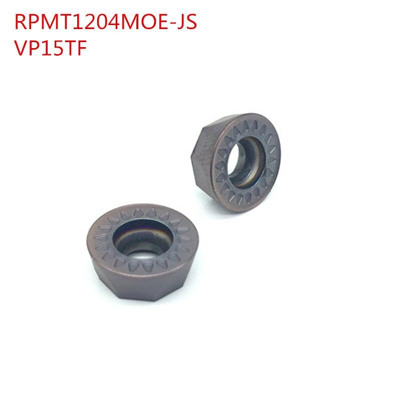 100PCS RPMT1204MOE JS VP15TF milling carbide insert Lathe Milling Mill cnc tools milling cutter finishing