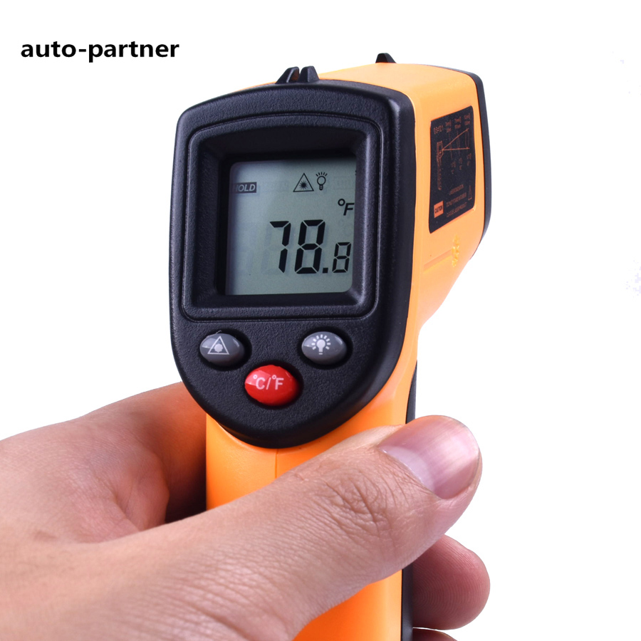 GM320 Digital Laser LCD Display Non-Contact IR Infrared Thermometer -50 to 380 C Car Diagnosis and Maintenance Auto Temperature tasi 8606 infrared thermometer 32 380 degrees infrared thermometer non contact thermometer industrial and household