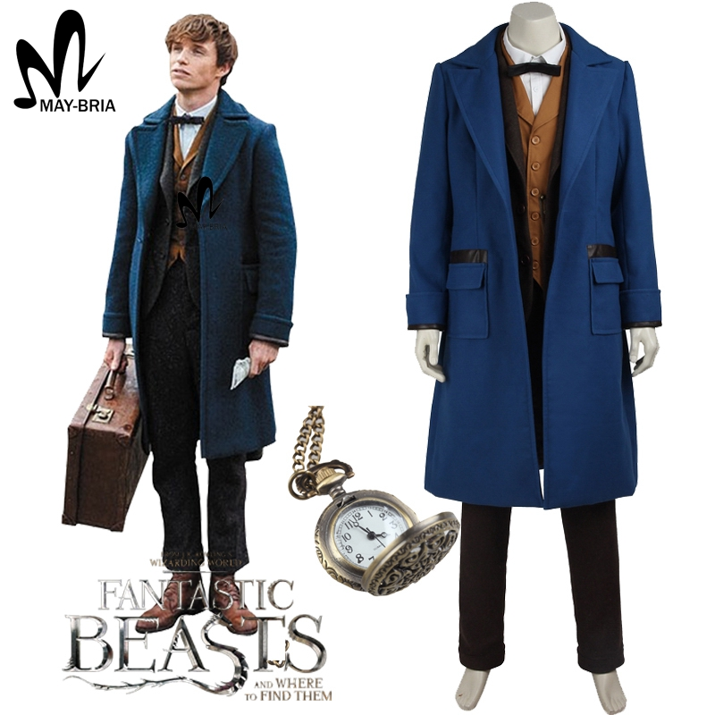 Fantastic Beasts and Where to Find Them Newt Scamande cosplay costume Christmas magical wizard cosplay costumes