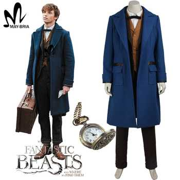 Fantastic Beasts and Where to Find Them Newt Scamande cosplay costume Christmas magical wizard cosplay costumes adult - SALE ITEM Novelty & Special Use