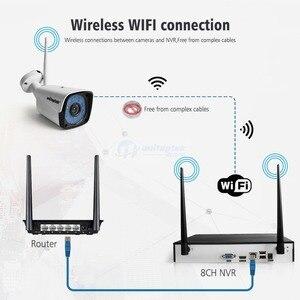 Image 3 - 4CH 8CH 1080P Kit NVR inalámbrico sistema de cámaras de seguridad para el hogar 1.0MP 2MP HD Video vigilancia CCTV sistema de cámara exterior wi fi NVR