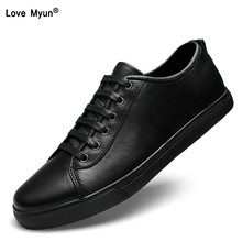 Brand Genuine Leather Men Casual Shoes Spring Summer 2018 New Arrival Breathable Soft Men's Handmade Flats Men Shoes