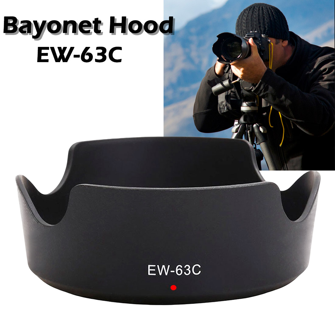 ABS Lens Hood <font><b>EW</b></font>-<font><b>63C</b></font> EW63C for Canon EF-S 18-55mm f/3.5-5.6 IS STM 58mm camera lens hood lens protetor <font><b>ew</b></font> <font><b>63c</b></font> image