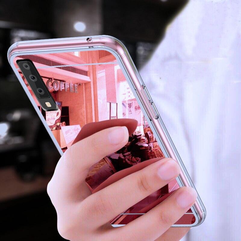 Роскошный мягкий зеркальный чехол для телефона для samsung Galaxy S10 Lite S9 S8 плюс S6 S7 край A6 A8 A7 A9 J4 J6 J8 2018 M10 M20 A10 A30 A50