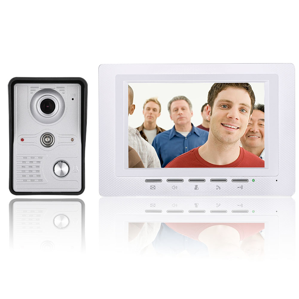 7 Inch LCD Video Door Phone Doorbell Intercom Kit 1-camera 1-monitor Night Vision With IR-CUT HD 700TVL Camera